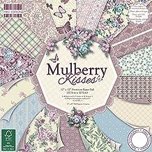 First Edition - Fogli di carta decorativa per applicazioni artistiche, da sorgenti certificate (FSC), 30 x 30 cm, motivo: Mulberry