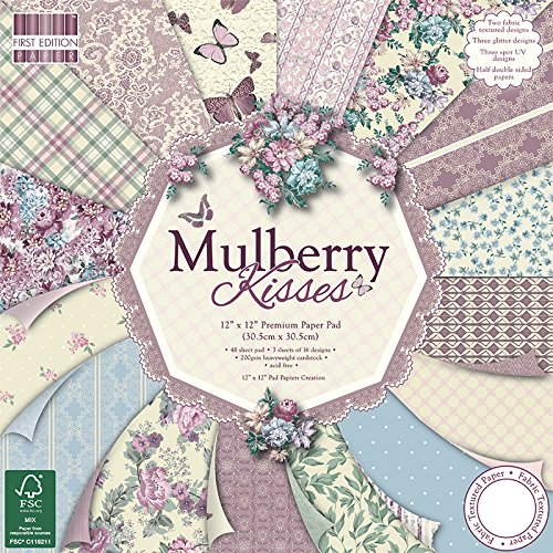 "First Edition Mulberry Kisses Premium Paper Pad 12""x12"" 48 Sheets (FSC)"