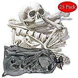 THE TWIDDLERS Halloween Saisonale Dekoration Tasche mit 25 gruseligen Knochen - Perfekt für Halloween Party deko Feiern - Ideal für Party Requisiten