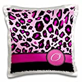 3drose Personalisierte Initiale O Monogramm Hot Pink und Schwarz Leopard Muster Animal print-personal letter-pillow Fall, 16 von 40,6 cm (PC _ 154416 _ 1)