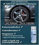 FOLIDIP® Sprühfolie exklusive Farben als Sprühdosen & Felgen-Sets anwendbar auf Plasti Dip® (2x 400ml Sprühdose, SILVER BLACK) Vergleich