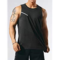 GYMAPE Men's Athletic Workout Tank Tops Sleeveless Muscle Running Shirts Training Quick Dry Gym Activewear
