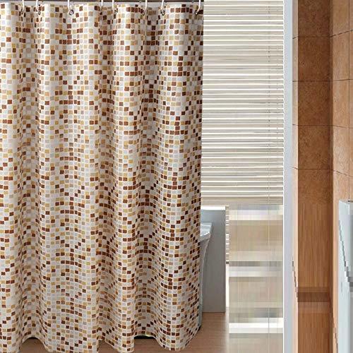 YPYSYL Mosaik duschvorhang wasserdicht gepolsterte duschvorhang Bad Vorhang Bad Vorhang partition Schild Vorhang, 180 * 180 cm, a1 -