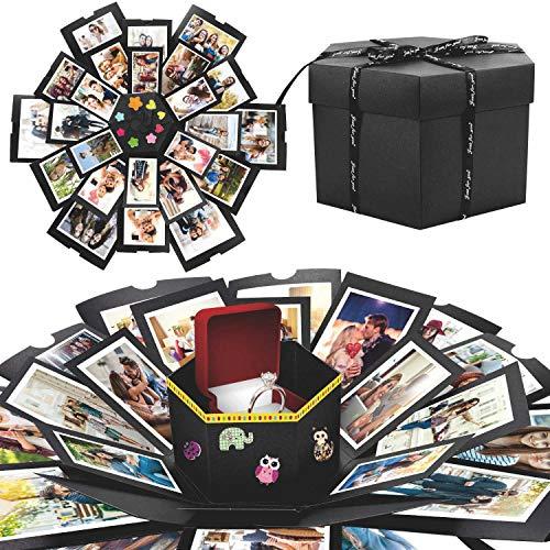WisFox Explosion Box, Creativo Fai Da te a Sorpresa Esplosione Regalo Scatola Amore Memoria, Scrapbooking Photo Album Gift Box per...