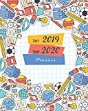 "July 2019-June 2020 Planner: School Supplies Cover, 12 Months July-June Calendar, Daily Weekly Monthly Planner 8"" x 10"""