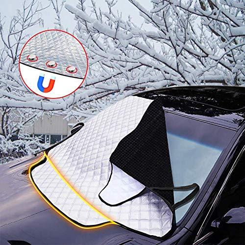 LALEO Frontscheibenabdeckung Auto Scheibenabdeckung Magnet Faltbare Frostabdeckung Auto Windschutzscheibe Abdeckung gegen UV-Strahlung, Sonne, Staub, EIS, Frost, Schnee (145× 123 cm)