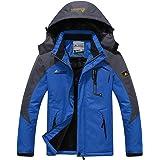 Abrigo grueso para hombre, chaqueta deportiva de escalada, alpinismo, esquí, para hombre, invierno, cálido, con capucha, forr
