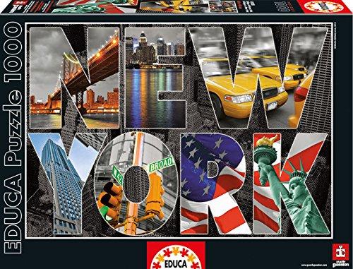 Educa 16288 - Puzzle 1000 Pezzi, Tematica New York Collage