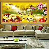 Punto croce, fiore di loto, fiore, Pesce, stile cinese, p0162
