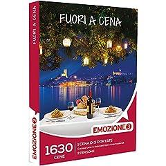 Idea Regalo - Emozione3 - Cofanetto Regalo - Fuori A Cena - 1630 cene di 3 portate in ristoranti tipici o internazionali