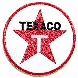 Texaco Öl Benzin Gas Station Pumpe Auto Racing Biker Logo Jacke Patches Aufnäher auf gesticktes Symbol Badge Reinigungstuch Schild