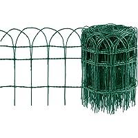 Amagabeli 0.4M x 25M clôture de Bordure de Jardin Vert 2.95mm RAL6005 Fil métallique Enduit de PVC clôture Filet…