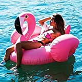 Best Blow Up Matelas - Missley Large Gonflable Flamingo Float-Floatie Ride On Rideable Review