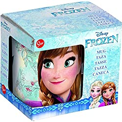 Frozen Taza Ceramica 325ml en Caja de Regalo Floral K' (78725), No Aplica