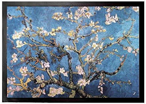Preisvergleich Produktbild 1art1 94060 Vincent Van Gogh - Blühende Mandelbaumzweige, 1890 Fußmatte Türmatte 70 x 50 cm