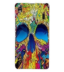ColourCraft Colourful Skull Design Back Case Cover for LENOVO A7000 PLUS