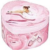Trousselier - Ballerina - Musikschmuckdose - Spieluhr - Ideales Geschenk für junge Mädchen - Phosphoreszierend - Leuchtet im