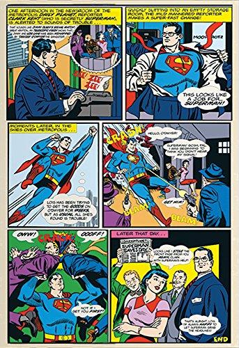 empireposter Superman Comic Strip Foto-Tapete Foto-Tapete 2-teilig 232x158 cm