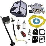 AISEN Ontstekingsspoel carburateur bougie luchtfilter kit membraan reparatieset voor Husqvarna 136 137 141 142 36 41 142E