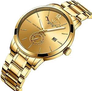 Uhren der Golduhr-Uhr-Luxussport-Quarz-Uhr-Geschäfts-wasserdichte Armbanduhr