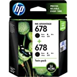 HP 678 2-Pack Black Original Ink Advantage Cartridges