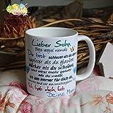Kaffeebecher ~ Tasse - Lieber Sohn ~ Deine Mama ~ Weihnachten Geschenk