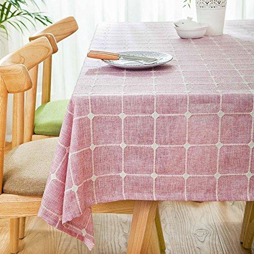 schdecke Esszimmer Garten Hotel Cafe Restaurant Tisch decken Stoff Farbe Baumwolle und Leinen rosa 100 x 160 cm Heimzubehör (Rosa Kunststoff-tabelle-cover)