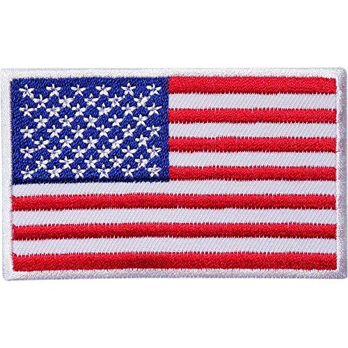 Bandera EE. UU. Hierro bordado/para coser parche insignia