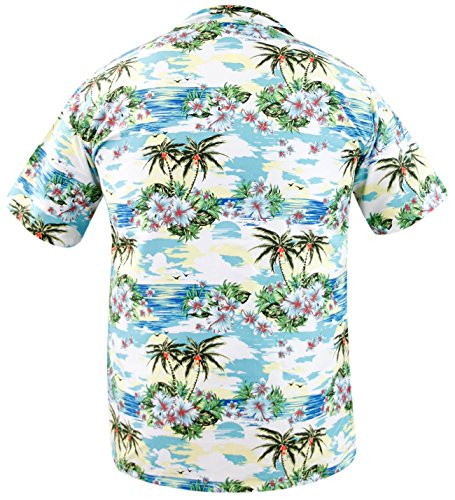True Face -  T-shirt - Uomo PALM-Turquoise