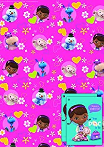 Disney Doc McStuffin 2x Gift Wrap Sheets and 2x Gift Tags