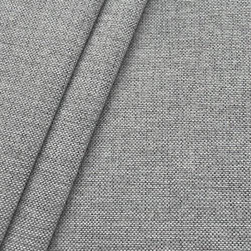 Polsterstoff Möbelstoff Stoff Meterware Hell-Grau meliert - Polster Stoff Sofa