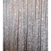 trlyc 3ftX7ft plata Shimmer–Cortina de lentejuelas de tela telón de fondo Fotografía de boda en venta