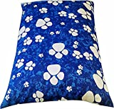 "Dog Bed Pet Supplies Large Extra XL Size Zip Cover With Inner Cushion Free P&P (Large (29""x39""inches), Blue Paws)"