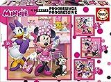Educa Borrás - Mickey Top Départ Puzzle Progressif Minnie et the Happy Helpers, 17630