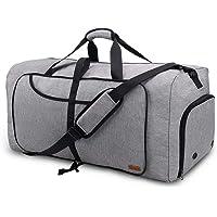 Vogshow Reisetasche 80L große Faltbare, Weekender Übernachtungstasche Seesack wasserdicht Sporttasche mit Schuhfach für…