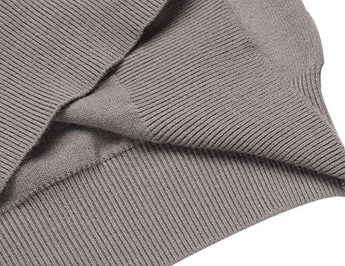 Coofandy Weste Herren Strickweste V-Ausschnitt Trachtenweste Einfarbig Wollweste für Herren Khaki