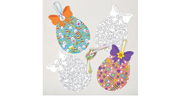 Kit Uova Di Pasqua Decorative Per Bambini Da Colorare Con Creativita Ideare Dipingere E Appendere Set Di Creazioni Per Bambini Confezione Da 10 Amazon It Giochi E Giocattoli