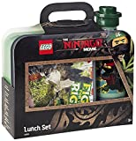 LEGO NINJAGO Movie Lunch-Set. Brotdose & Trinkflasche, Sand Grün