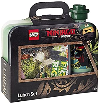 LEGO Ninjago Movie Lunch Set, Lunch Box & Drinking Bottle, Red ...