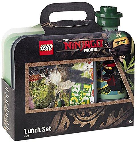 LEGO Ninjago Film-Lunchbox-Set, Brotdose & Trinkflasche, rot, 151–Sand Grün (Rot Ninjago)