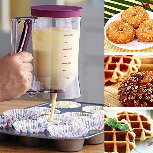 Spender mit Mess Etikett, ideal Werkzeug für Muffins Backen oder jeden Backwaren ()
