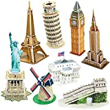 CubicFun 3d Jigsaw Puzzle Famous Architecture Model Building Landmark Kit DIY Gift with Instruction for Children and Adults