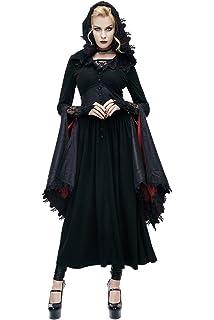 de37816f5f6763 Devil Fashion Gothic Damen Retro Spitze V-Ausschnitt Spitze Lange Mäntel  Steampunk Frauen Halloween Kostüme