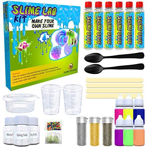 Desire Deluxe Kit Slime Fai da te Slime Lab Set completo Gioco Scienza per bambini età 4 5 6 7 8 9. Laboratorio Slime Ingrediente attivatore.