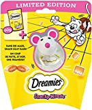 Dreamies Snacky Mouse - Dreamies Snacks Käse mit Katzenspielzeug 3set