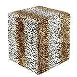 Sitzwürfel Fell-Imitat Leopard