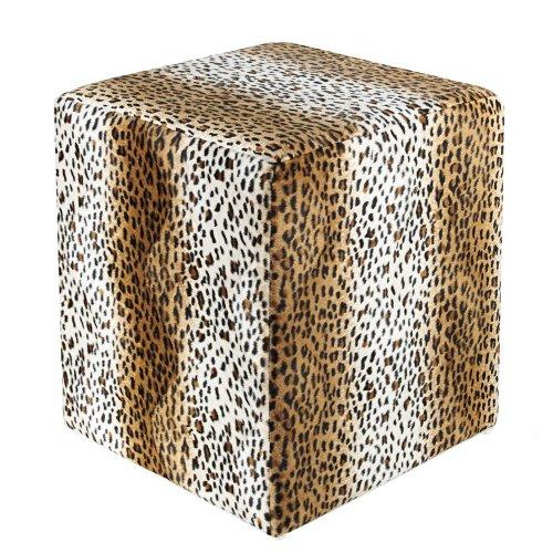 Kaikoon Sitzwürfel Fell-Imitat Leopard