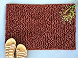 NestRoots Ultra soft Velvety Brown bath mats or floor mats - 16 X 24 Inches