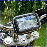 AUTOKNEW 5 Pouces Support GPS Navigon Vélo Moto Housse Etanche Pour TomTom/Navman/Garmin