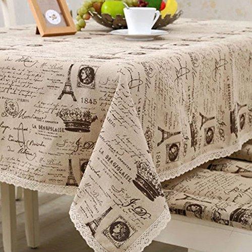 MEICHEN-Il cotone e il lino tovaglia coperchio tavolo nel piccolo tovagliolo di corona panno universale,140*250